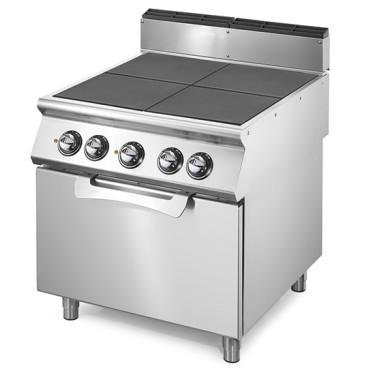 Cucina elettrica con piastre ribaltibili su forno elettrico statico GN 2/1