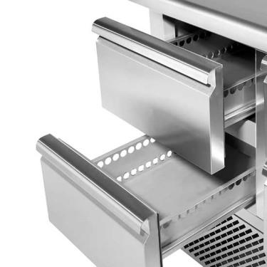 Kit cassettiera da 2x 1/2 per tavoli refrigerati con profondità 700 mm