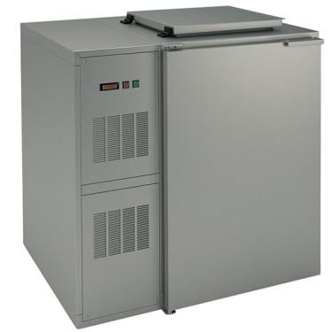 Box refrigerato per rifiuti, 1x 240 litri, con gruppo a sinistra