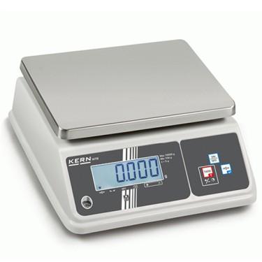 Bilancia da banco con piatto di pesata in acciaio inox, portata massima 15 kg, divisione 2 g