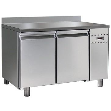 Tavolo congelatore per gruppo remoto 2 porte gn 1/1 piano alzatinatemp.-10 -22 c hccp sistema