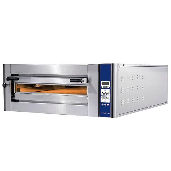 Forni pizza elettrici linea Donatello ad una camera con controllo digitale programmabile sistema di cottura