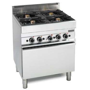 cucina a gas, 4 fuochi, 1 forno elettrico a convezione