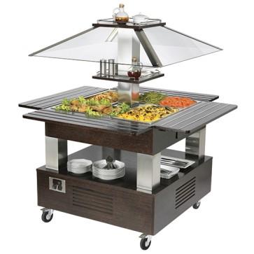 buffet freddo a isola con refrigerazione statica, 4x GN 1/1 h=150 mm