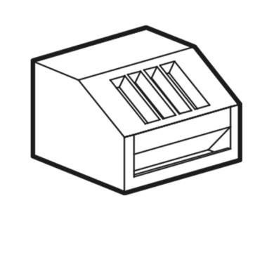 Elemento porta pane con portaposate in pvc