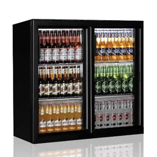 Retrobanchi refrigerati con porte battenti in vetro