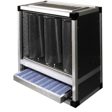 Unità di filtrazione e deodorizzazione a carboni attivi, 2500 m³/h