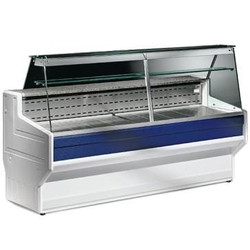 Vetrina refrigerata statica,vetro dritto,larghezza=1500