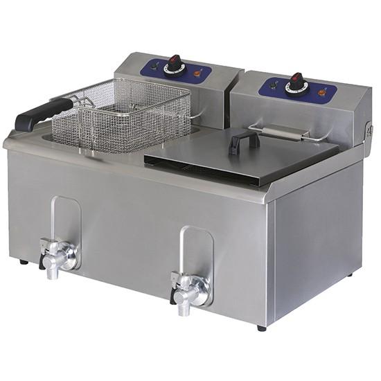 Friggitrici elettriche da banco vasca doppia