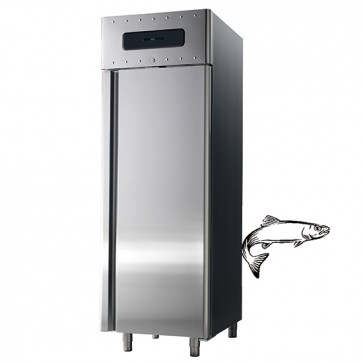 Armadio frigorifero ventilato con hccp sistema di allarme 700 lt per pesce temperatura-2/+5°c