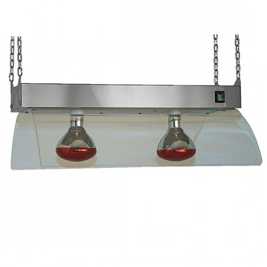 lampade a infrarossi su telaio a sospensione, 2x GN 1/1