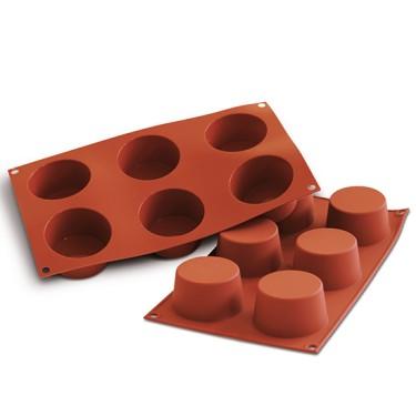 Stampo in silicone GN 1/3 per 6 muffins ø 68 mm