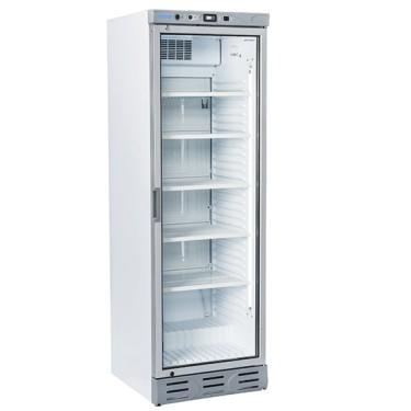 Frigovetrina con porta in vetro 270lt, 6 ripiani evaporatori fissi - 15°C - 20°C