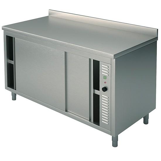 Tavoli armadiati caldi e riscaldati con porte scorrevoli con alzatina profondità 60 cm