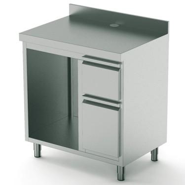 Retro base macchina caffè da 1000 mm con elemento per lavabicchiere