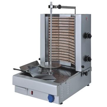 griglia kebab elettrica con 2 zone di riscaldamento, motore sotto, 30 kg