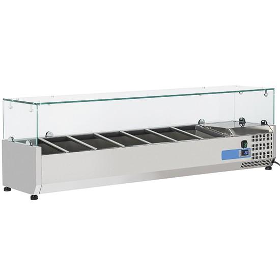 Vetrine refrigerate portaingredienti per contenitori da 1/4 altezza 150 mm