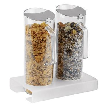 Espositore per cereali in plexiglas 2x 1,5lt