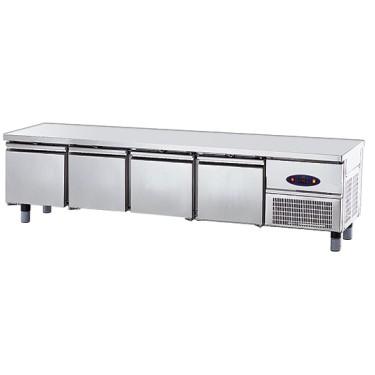 Base freezer con 4 cassetti gn 1/1 per apparecchiature di cottura
