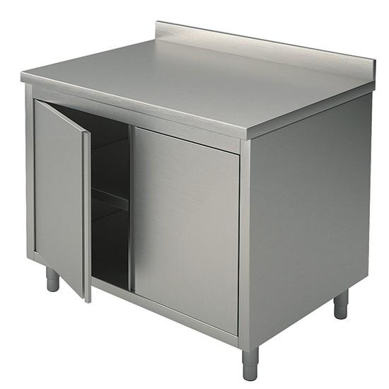 Tavoli armadiati con porte a battente con alzatina profondità 70 cm