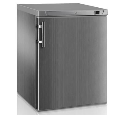 congelatore da sottobanco in inox, 145 litri, -18°C/-23°C