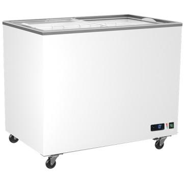 congelatore a pozzo da 314 (258) litri con coperchi scorrevoli in vetro, -14°/-24°C