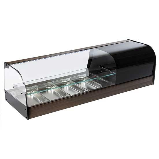 Vetrinette espositori refrigerate per tapas con doppio piano in vetro