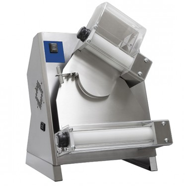 Dilaminatrice per pasta fresca con 2 rulli paralleli, per diametro da ø 26-40 cm