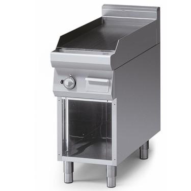 Fry-top gas piano stampato piastra liscia
