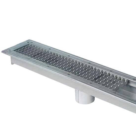 Vasche grigliate a pavimento per scarichi